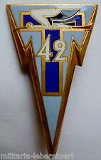 Insigne époque Indochine 42° Régiment Transmissions Drago Romainville ORIGINAL