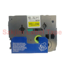 """Brother TZ-641 P-Touch 3/4 x 26""""  Compatible Black on Yellow Tape 18mm 8M tze641"""