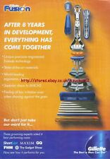 """Gillette Fusion """"After 8 Years In Development"""" 2009 Magazine Advert #4608"""