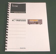 Icom IC-R8500 Instruction Manual -Premium Card Stock & Protective Covers!