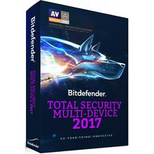 Bitdefender Total Security Multi-Device 2017 3 Dispositivi 1 Anno Licenza ESD