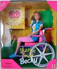 SHARE A SMILE BECKY. BARBIE'S FRIEND. MATTEL. 1996.