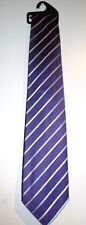NEW MEN'S PURPLE, BLUE AND PINK STRIPY TIE BY MARKS & SPENCER STOCKING FILLER
