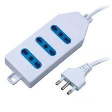 Multipresa Bipasso 3 Posizioni Ciabatta Presa Elettrica Cavo 1.5mt 16A moc