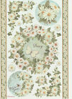 Ricepaper for Decoupage Decopatch Scrapbook Craft Sheet Daisy and Butterfly
