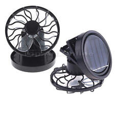 Mini Clip On Solar Power Energy Panel Cooling Cell Fan Cooler for Travel Camping
