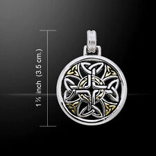 Celtic Cross Silver and Gold Pendant by Peter Stone