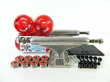 Independent 149 Stg11 Skateboard Trucks + Bones SPF 56mm Clear Red Wheels