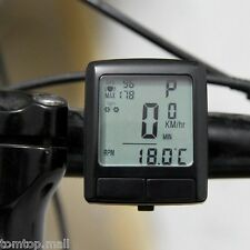 LCD Bike Bicycle Cycling Odometer Speedometer with Wireless Heart Rate Monitor