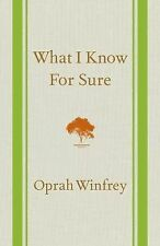 What I Know for Sure by Oprah Winfrey (2014, Hardcover)