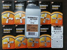 40x Duracell Activair Hearing Aid Battery Size 312 Zinc Air Power One Battery