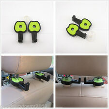 2 x Car Accessory Seat Headrest Green Apple Style Luggage Hanger Hooks For Mazda