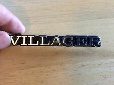 Vintage OEM Metal EMBLEM ORNAMENT BADGE 1970s 80s MERCURY VILLAGER D2GB-16098-BA