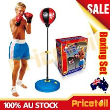 OZ Junior Boxing Punching Ball Gloves Kids Boys Xmas Gift Set Box Toy Adjustable