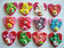 edible cake decorations / cupcake toppers CARE BEARS set of 12