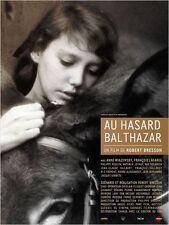 Affiche 40x60cm AU HASARD BALTHAZAR 1966 Robert Bresson - Anne Wiazemsky NEUVE