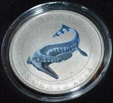 2013 Canada 25 Cent Tylosaurus Glow-in-the-dark Dinosaur Coin - 3rd in Series!