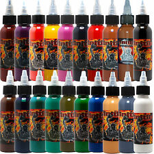 Infinitii Tattoo Ink 20 Colors 1oz Set - comes with a free box of tattoo needles