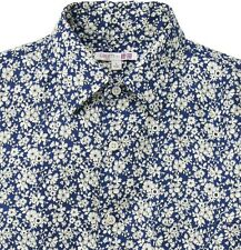 LIBERTY London x UNIQLO Floral 100% French Linen Long-Sleeve Shirt Men's L *NWT*