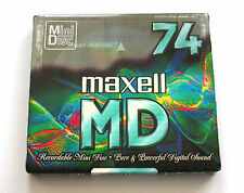 One (1) Minidisc MAXELL Crystal MD-74 '1998 (new and sealed)