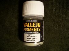 Vallejo, Paints & Supplies,Green Earth, Pigment,  model, hobby,  dioramas