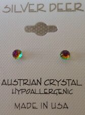 Faceted Ball HYPOALLERGENIC Stud Earrings Lead and Nickel Free Crystal Earrings