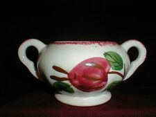 Blue Ridge Colonial APPLE TART Red Trim Sugar Bowl - No Lid
