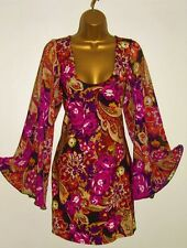 NEW LADIES DOROTHY PERKINS DRESS SIZE 12, Rose Floral Kimono Tunic Dress