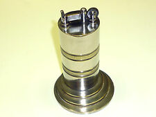 VINTAGE TRENCH ART TABLE LIFTARM WICK LIGHTER - NICKLE PLATED BRASS - NICE PIECE