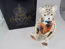 ROYAL CROWN DERBY TEDDY BEAR PAPERWEIGHT GOLD PLUG EXCELLENT CONDITION