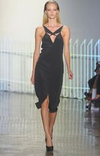 CUSHNIE ET OCHS Black Silk Cut Out Dress 6