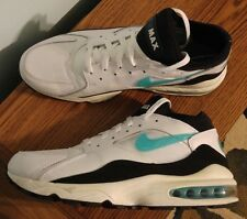 Nike Air Max 93 Running Sneakers White Green Black MENS 10.5 Shoes 306551 103
