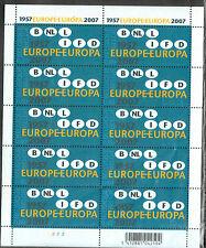 Bélgica. 50 aniversario Unión Europea en minipliego