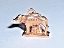 VINTAGE 18k GOLD ROMULUS REMUS WOLF ROME ITALY CHARM