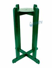 "Green Floor Stand For Water Crocks Vase Wood Base Faucet Spigot Dispenser 27"""