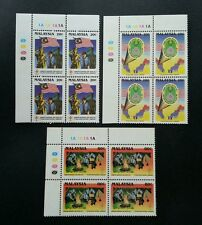 Malaysia 7th National Scout Jamboree 1989 Flag Map (stamp block 4) MNH *see scan