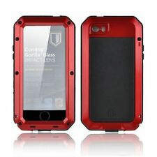 Aluminum Shockproof Gorilla Glass Metal Case Cover for iPhone 5S 5SE 6 & 6S Plus