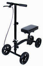 Knee Walker Scooter Leg Crutch Steerable Turning Folding KD Sit Kneel Kneeling
