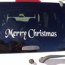 DIY Merry Christmas Door decal vinyl Car decal quote words wall hoilday  craft