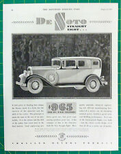 Vintage 1930 ad for DeSoto Automobiles - Nice graphics of a DeSoto Straight 8