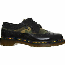 Dr. Martens Camo camouflage panel Black Leather brogues Shoes Boots Size UK 5
