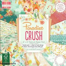 DOVECRAFT PARADIS CRUSH PAPIER 6 X 6 MUSTER PACKUNG JE 1 DESIGN - 16 BLÄTTER
