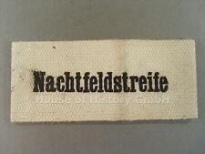98916 Armbinde der NACHTFELDSTREIFE , weiße Armbinde mit gedruckter Schrift