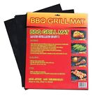 1 set of 2 BBQ GRILL MAT sheets, Reusable, Non-stick, Make Grilling Easy!