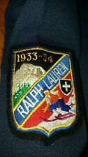 Polo Ralph Lauren SUICIDE SKI PATCH pullover sweater SMALL navy 33-34 1/4 zip