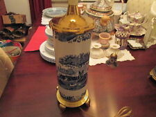 "Spode blue and white italian tall lamp 30"" tall   Beautiful"