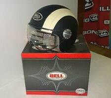 Casco moto BELL demi-jet Shorty Sport nero/bianco L large