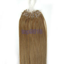 "New 16""~26""100s Micro Ring Beads Loop Remy Real Human Hair Extensions Straight"