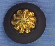 18mm Brown / Gold Shank Button