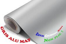 1,52 x 1 m Autocolant Sticker Feuille Deco Gris Alu Mat Adhesif Film Vinyle